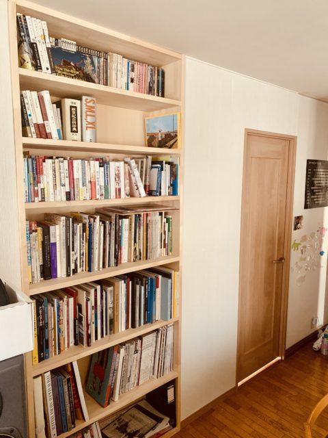 間仕切りを本棚で作ってみたら 杉並区