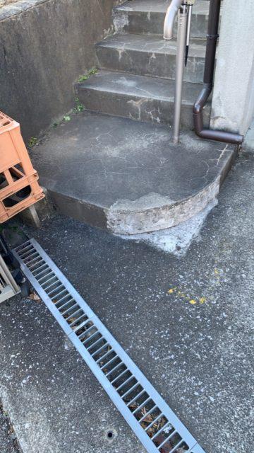 玄関土間補修